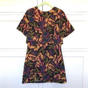 TOPSHOP Bold Print Shift Short Sleeve Dress Size 8